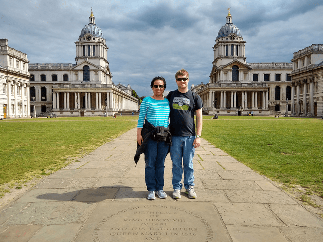 Yasmin and Mak at the Greenwich Royal Observatory